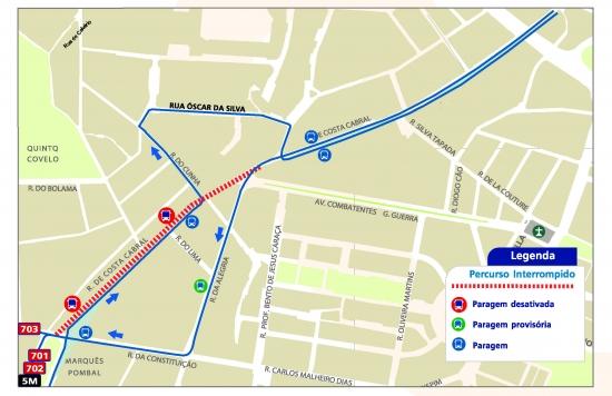 rua costa cabral porto mapa LINES 701 702 703 5M   ALTERATION OF ROUTE   WORKS   RUA DE COSTA  rua costa cabral porto mapa