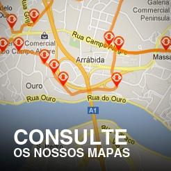 Consulte os nossos mapas